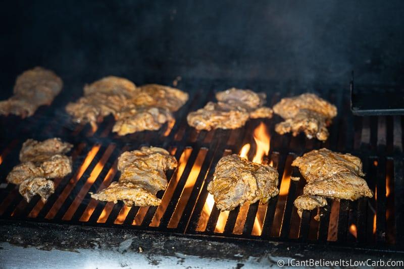 chicken on grill for Greek Chicken Bowl Recipe