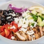 Easy Greek Chicken Bowl Recipe Feature