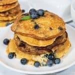 Fluffy Keto Blueberry Pancakes Recipe feature