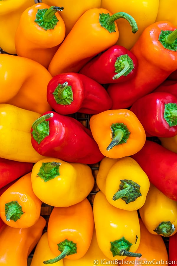colorful mini bell peppers