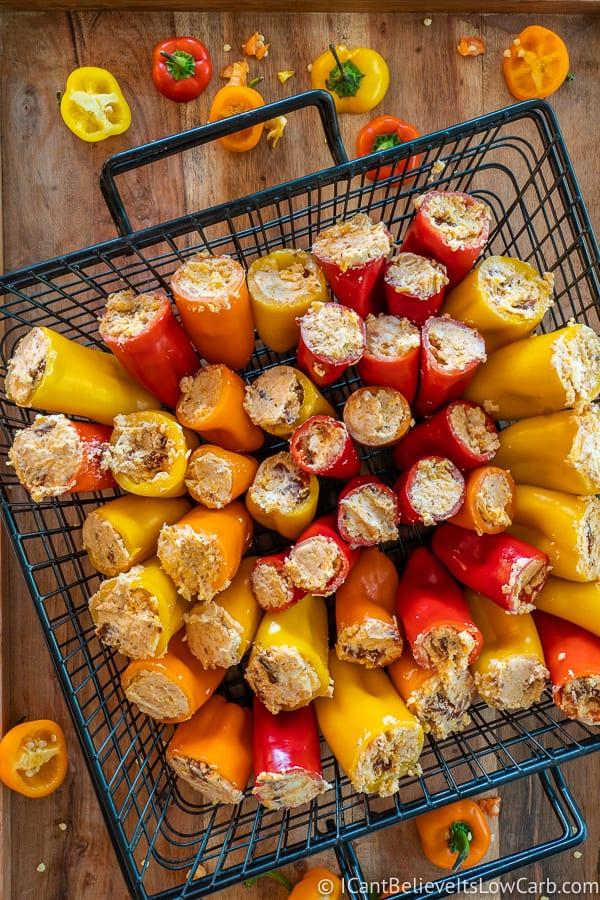 low carb stuffed mini peppers recipe