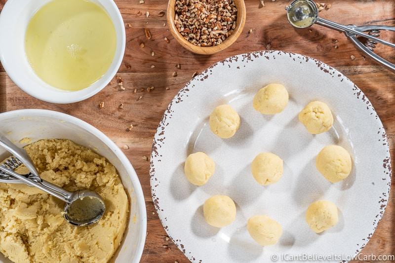 almond flour thumbprint cookie dough