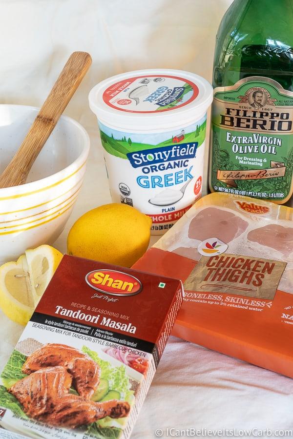 ingredients for Tandoori Chicken recipe