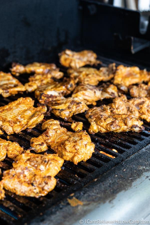 grilling Tandoori Chicken recipe