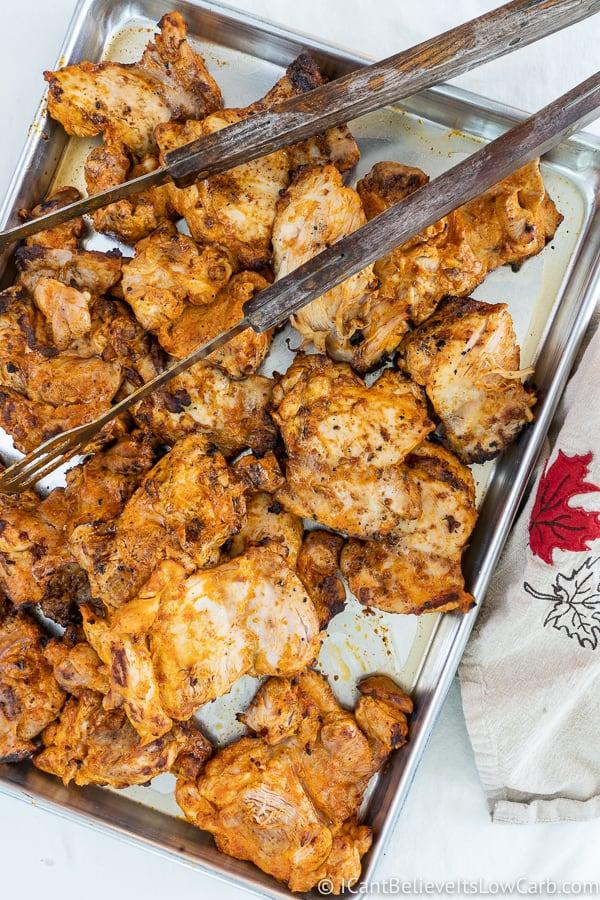 tray of grilled Tandoori Chicken