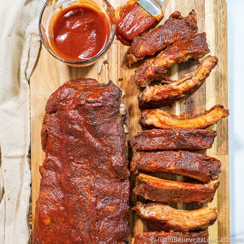 Baked Baby Back Ribs in the Oven Keto Recipe feature