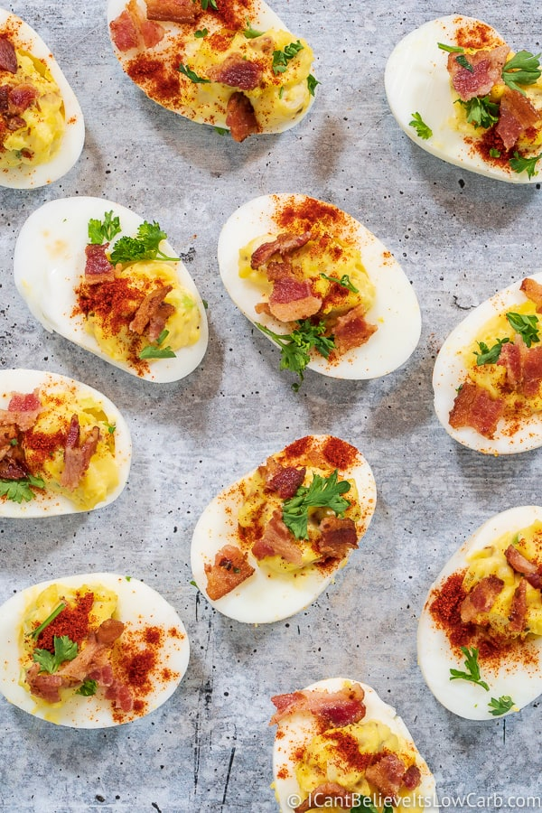 low carb Bacon Deviled Eggs