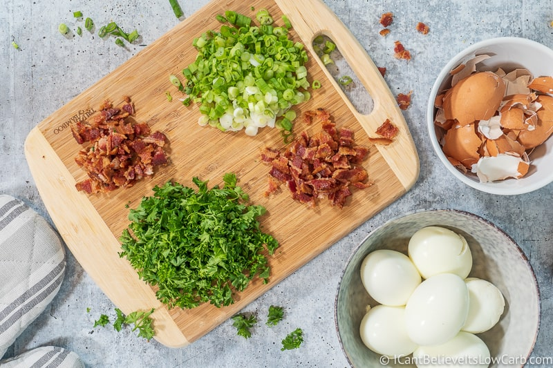 Keto Deviled Eggs ingredients