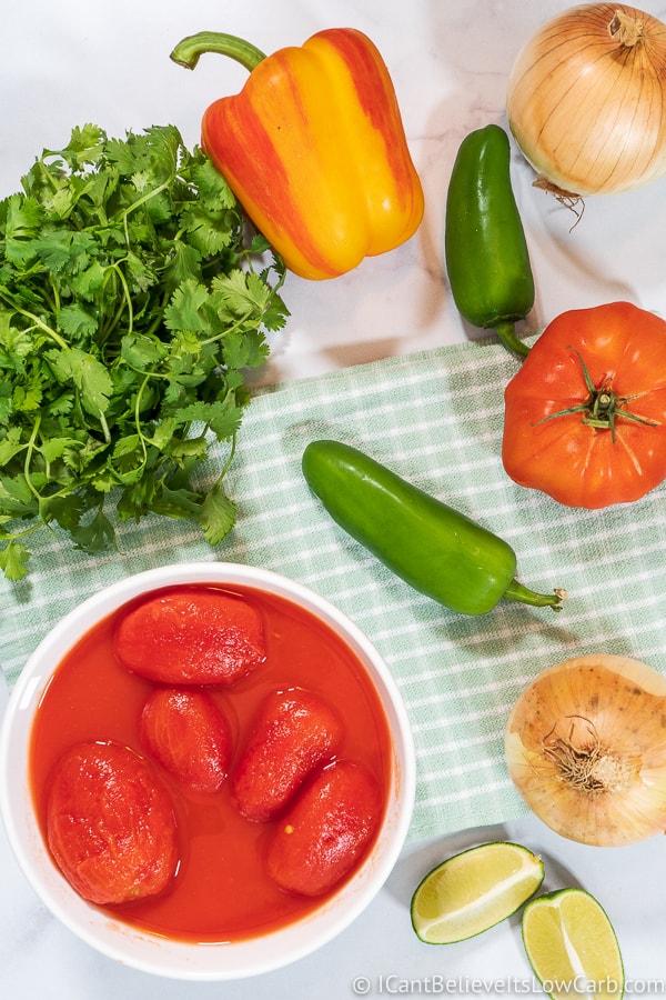 homemade salsa recipe ingredients