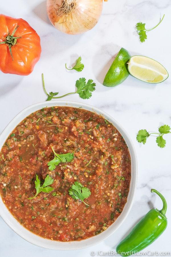 homemade salsa recipe low carb and Keto friendly