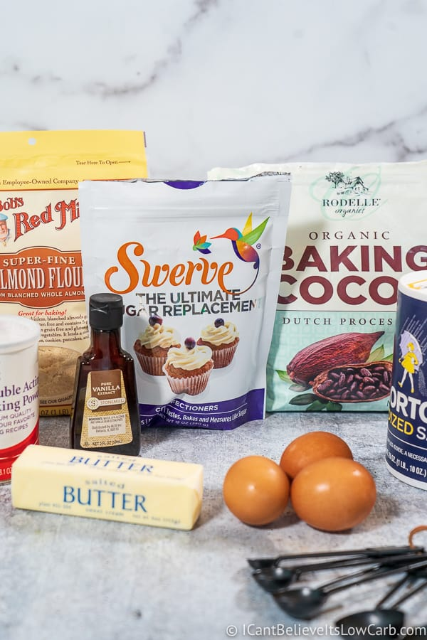 Keto Brownies ingredients