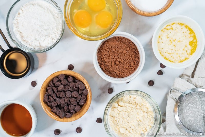 Keto Brownies ingredients to mix