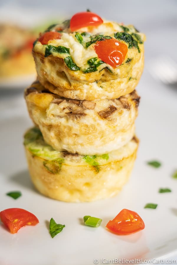 stack of Breakfast Egg White Cups Keto