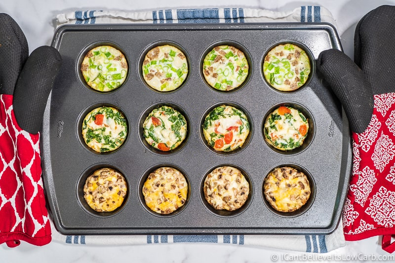 Breakfast Egg White Cups out of the oven
