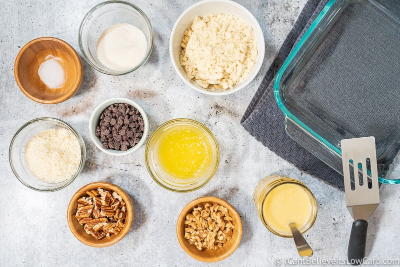 Keto Magic Cookie Bars ingredients