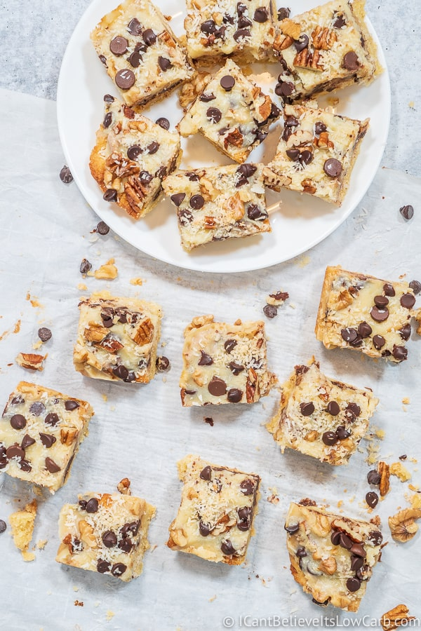 Keto Magic Cookie Bars Recipe low carb