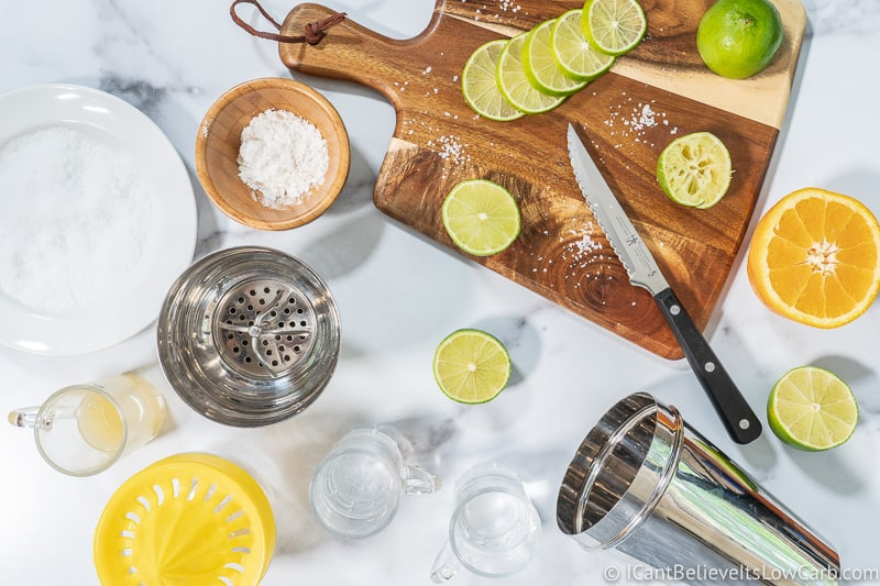 Keto Margarita Recipe ingredients