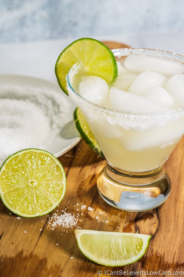 Keto Margarita Recipe limes and salt rim