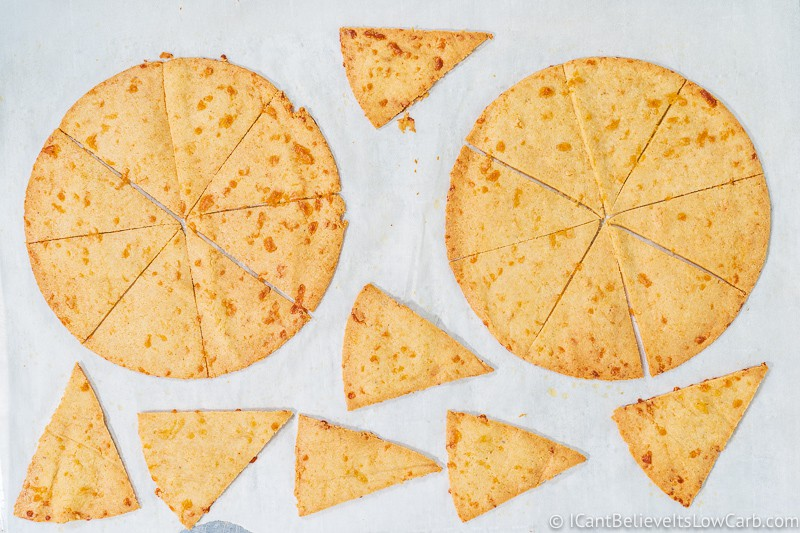 Keto Tortilla Chips Recipe baked