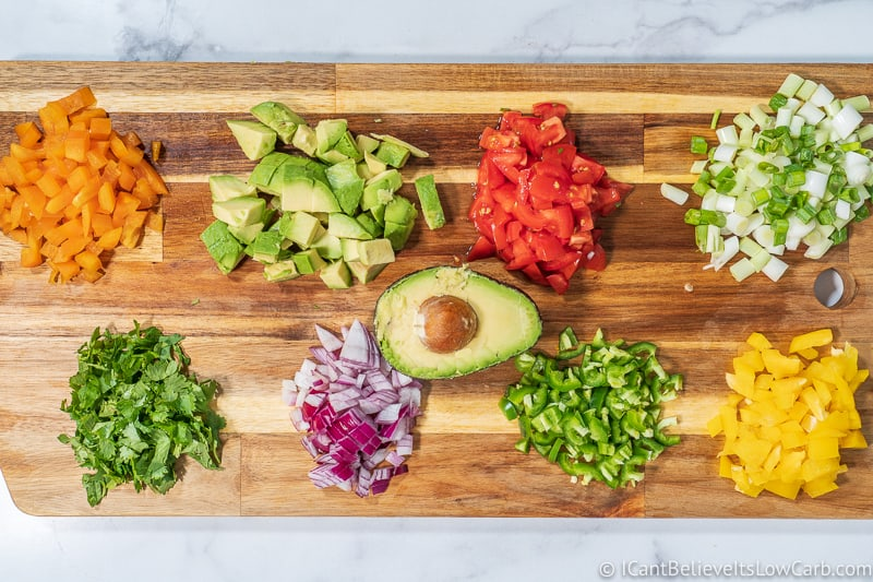 Low Carb Avocado Salsa Recipe ingredients