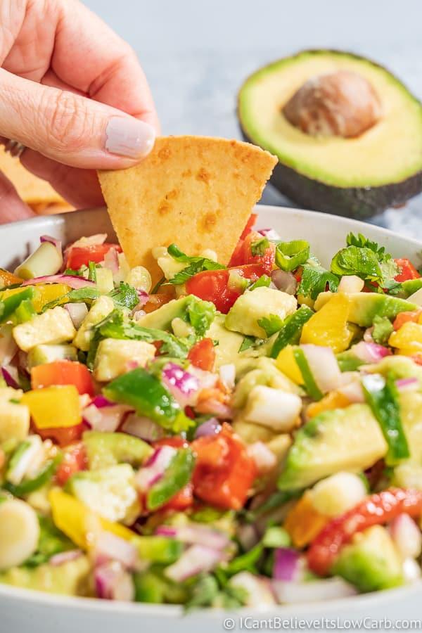 Dipping Keto Avocado Salsa