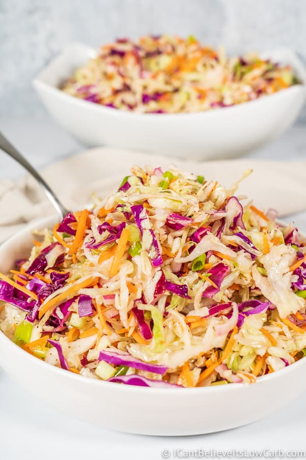 2 bowls of low carb Coleslaw keto