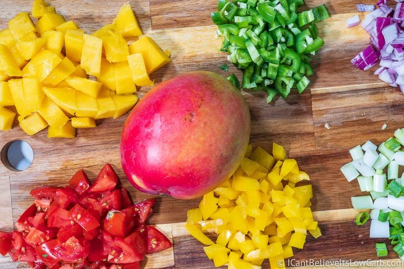 Low Carb Mango Salsa Recipe ingredients