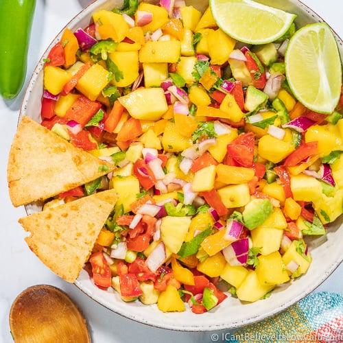 Best Homemade Mango Salsa Recipe Low Carb And Keto Friendly