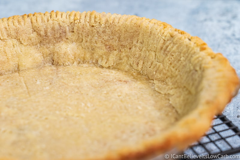 inside Low Carb Almond Flour Pie Crust