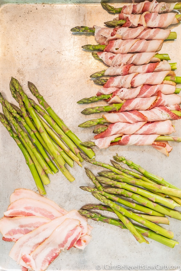 making Bacon Wrapped Asparagus