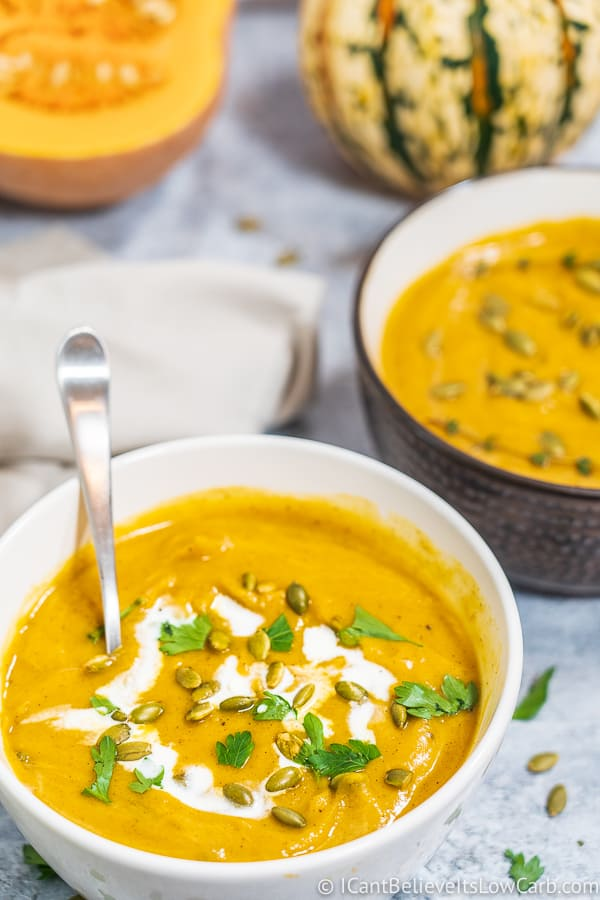 making Butternut Squash Soup