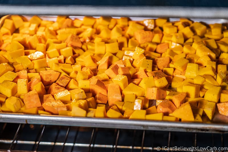 Butternut Squash in the oven