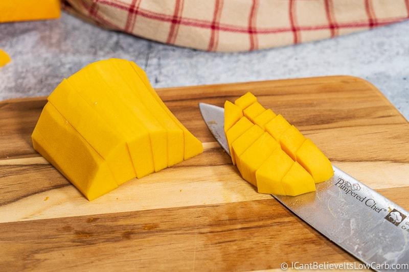 Freshly Cut Butternut Squash