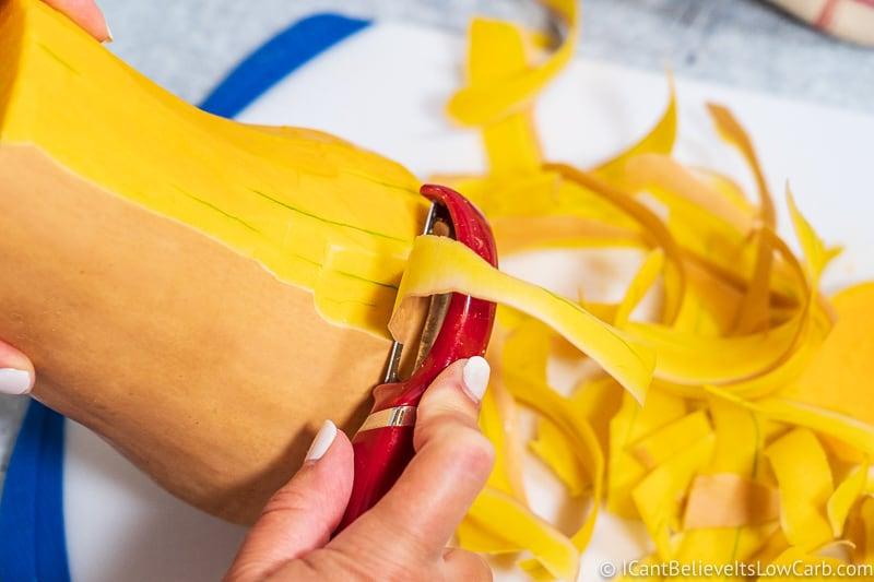 How Peel a Butternut Squash