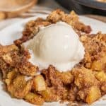 Keto Apple Crisp w/ ice cream