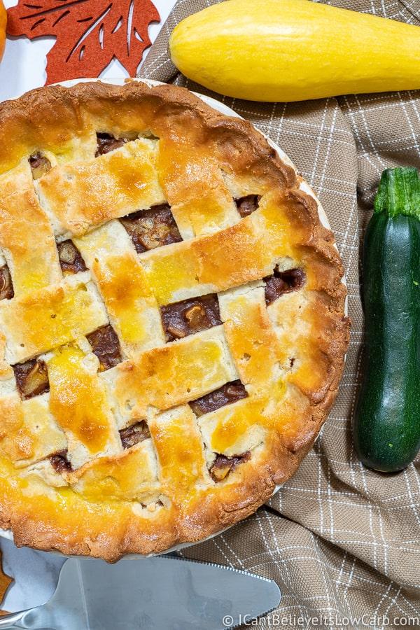 Keto Apple Pie Recipe with Zucchini and Yellow Squash