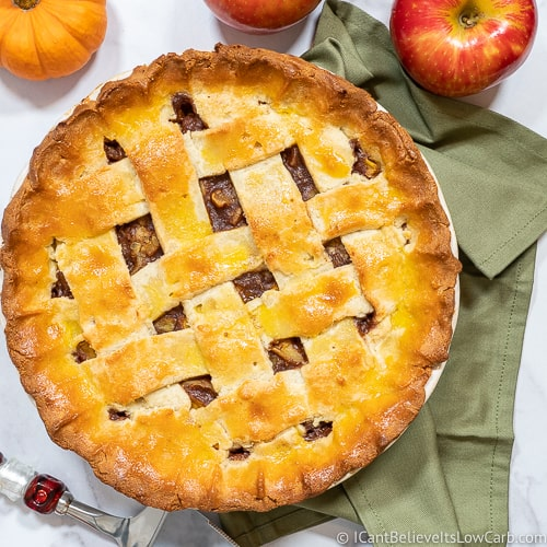 Low Carb Apple Pie Recipe featured
