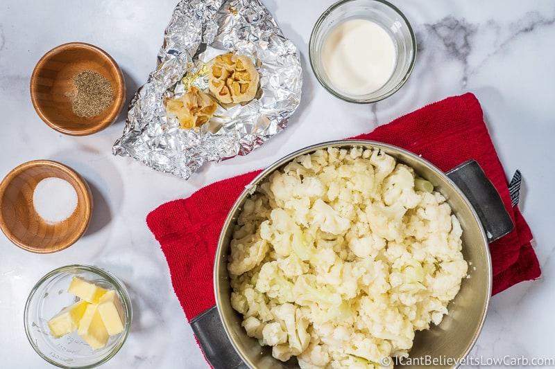 making Cauliflower Mashed Potatoes