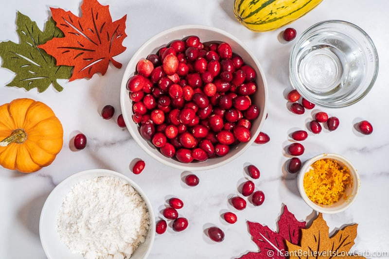 Keto Cranberry Sauce Recipe ingredients
