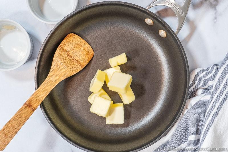 melting butter for Green Bean Casserole