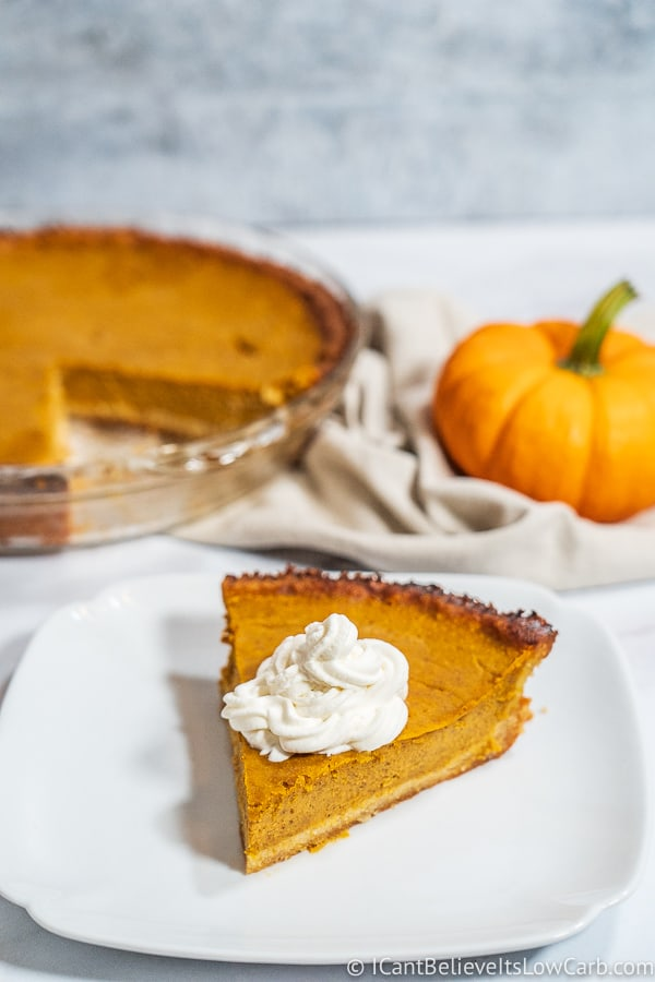 Slice of Low Carb Pumpkin Pie