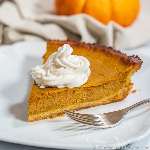 Keto Pumpkin Pie Recipe gluten free
