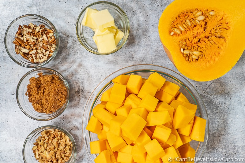 Keto Butternut Squash Casserole ingredients