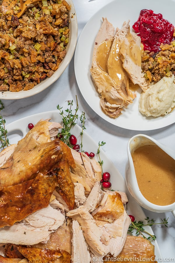 everything on the table for Perfect Turkey Recipe