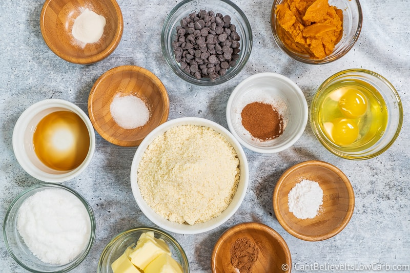Pumpkin Chocolate Chip Cookies ingredients