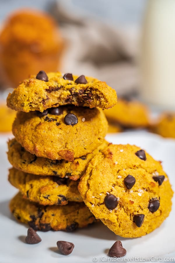 Pumpkin Chocolate Chip Cookies low carb