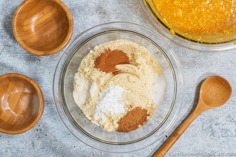 ingredients for Keto Pumpkin Chocolate Chip Cookies