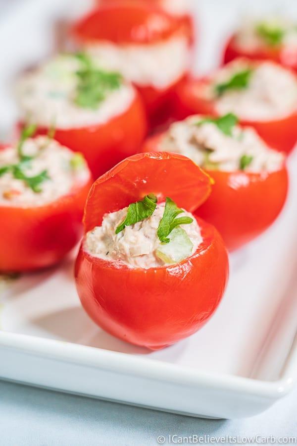easy Tuna Stuffed Tomatoes