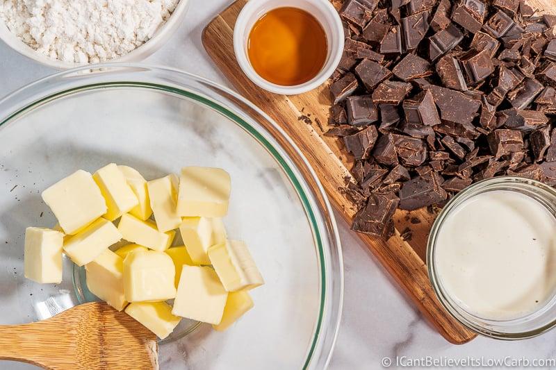 ingredients to make Keto Fudge