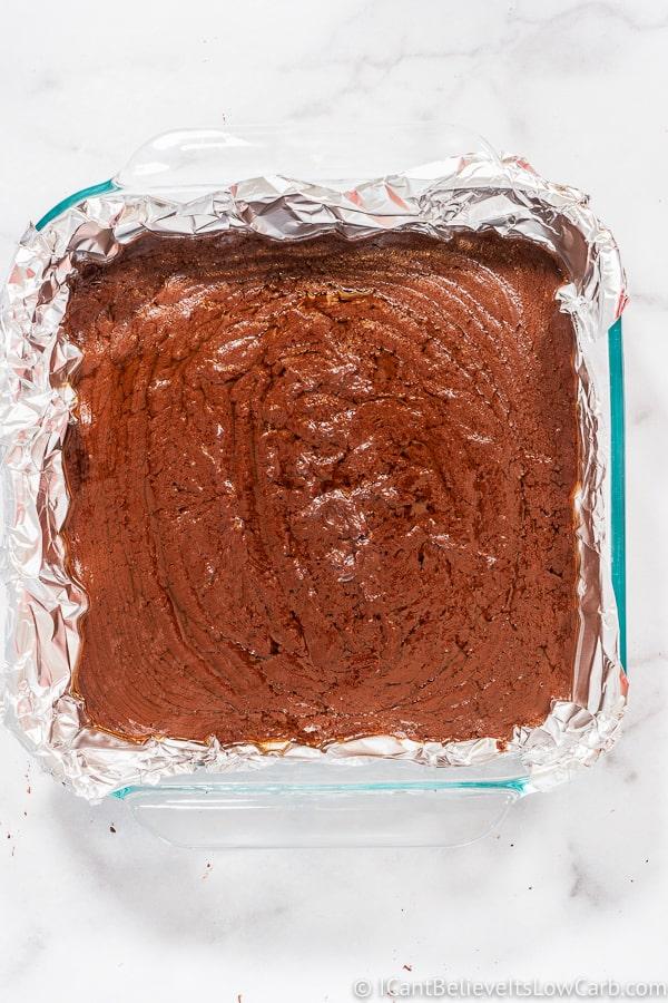 pan full of sugar free Keto Fudge